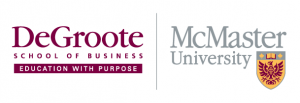 logos of DeGroote School of Business and McMaster University